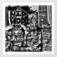 hip hop Art Prints featuring Hip Hop by J. Unger Photography