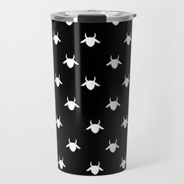 goat patterns white Travel Mug