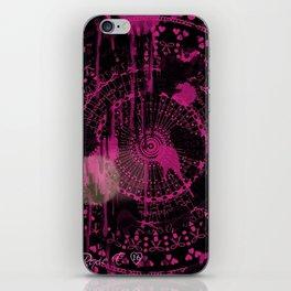 Neon Pink Splatter iPhone Skin