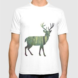 Reindeer Silhouette | Forest Photography T-shirt