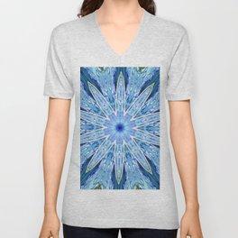 Thinking of You Blue Kaleidoscope Unisex V-Neck
