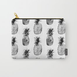 Black-and-white pineapples Carry-All Pouch