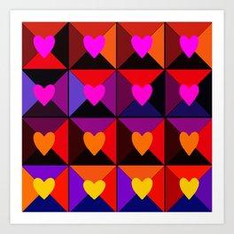 Valentine Boxes Art Print