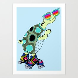 Dylan rainbow glass collection Art Print
