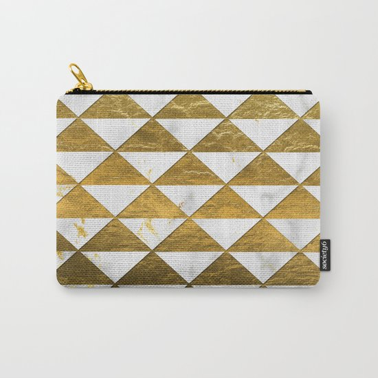 Marble and Gold Pattern #3 Carry-All Pouch