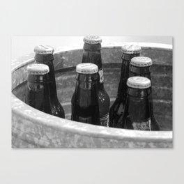Bucket of root beer Canvas Print