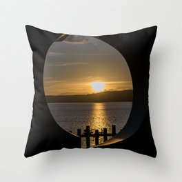 Sunset in Taupo (New Zealand) Throw Pillow