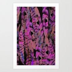 Acid Feather Art Print
