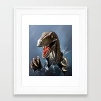 dinosaur Framed Art Prints featuring dinosaur by Antracit