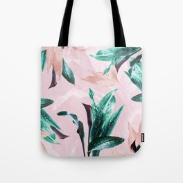 Tropical Floral on Pink. Odessa Calla Lily Tote Bag