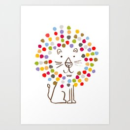 Dandy Lion Art Print