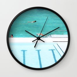 Pool lines Wall Clock