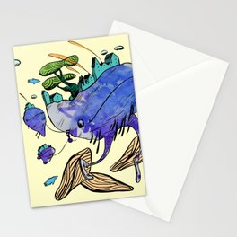 explore (blue) Stationery Cards