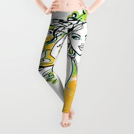 Afrolatina lemonade - 2 - sexy girl Leggings
