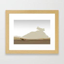 Jakku Landscape Framed Art Print
