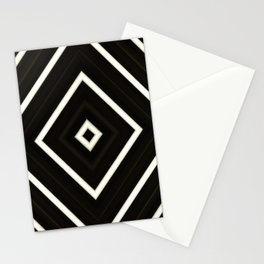 Black and white pattern zigzag Stationery Cards