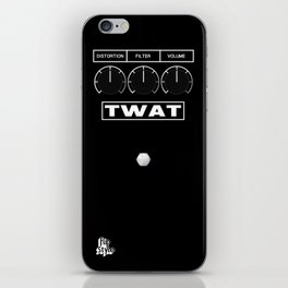 'Twat' Guitar Pedal iPhone Skin