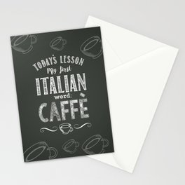 Italian Lessons / Coffee Stationery Cards
