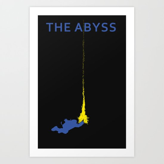 The Abyss Minimal Movie Poster (Not Alone) Art Print