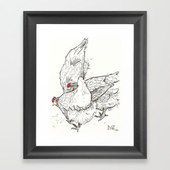 Pecking Framed Art Print