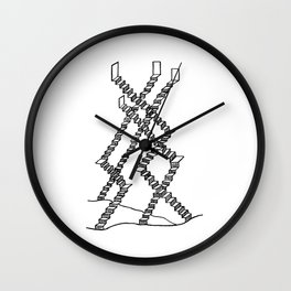 Crooked Stairs Wall Clock