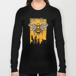 Bees Source For Natural Honey Comb and Pollination Long Sleeve T-shirt