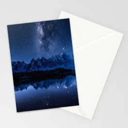 Night mountains Stationery Cards