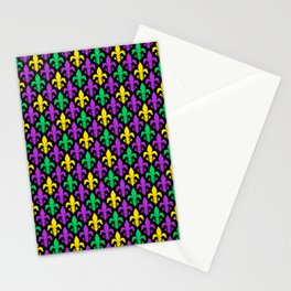 Mardi Gras Pattern | Funny Carnival Graphic Stationery Cards