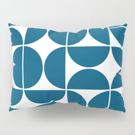 Mid Century Modern Geometric 04 Blue Pillow Sham