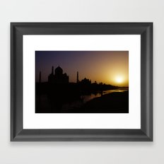 Taj Sunset Framed Art Print