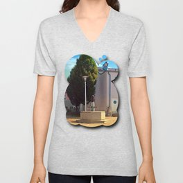 The neglected fountain Unisex V-Neck
