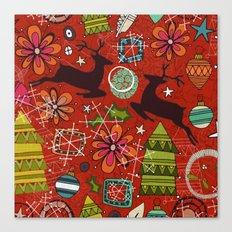 joyous jumble rust Canvas Print