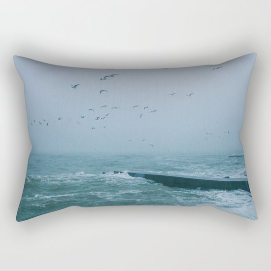 Hey, storm Rectangular Pillow