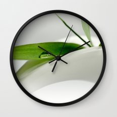 Bamboo Drop Wall Clock