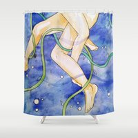 tangled Shower Curtains featuring tangled by Beth Jorgensen