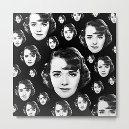 Floating Ruby Keeler Head Metal Print