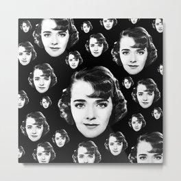 Floating Ruby Keeler Head Metal Print