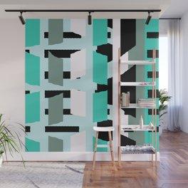 Urban Laundry  #pattern #green Wall Mural