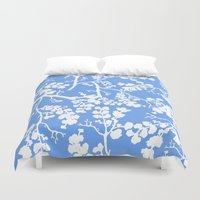 cherry blossom Duvet Covers featuring Cherry Blossom by Elena O'Neill