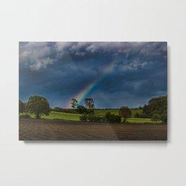 Rainbow Fields  Metal Print