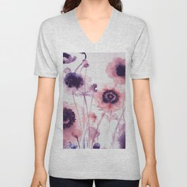 FLOWER PATTERN10 Unisex V-Neck