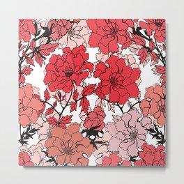 Pink japanese peonies. Metal Print