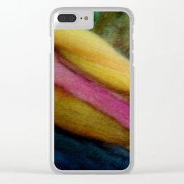 Blond fibers Clear iPhone Case