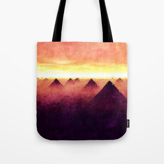 Pyramids At Sunrise Tote Bag