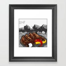 Bullsausages Framed Art Print