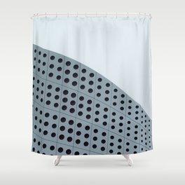 Echo grid Shower Curtain