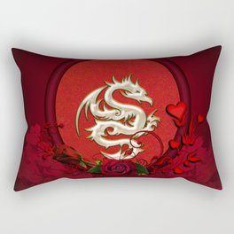 Chinese dragon with hearts Rectangular Pillow