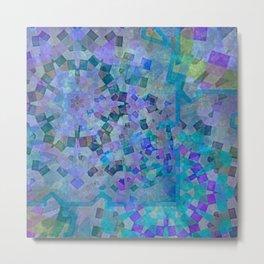 Mosaic in Turquoise Metal Print