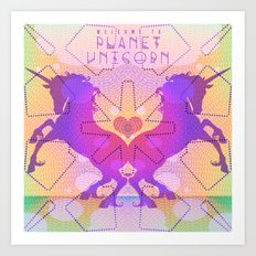 PLANET UNICORN Art Print
