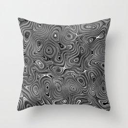 Abstract fancy grey black white design Throw Pillow